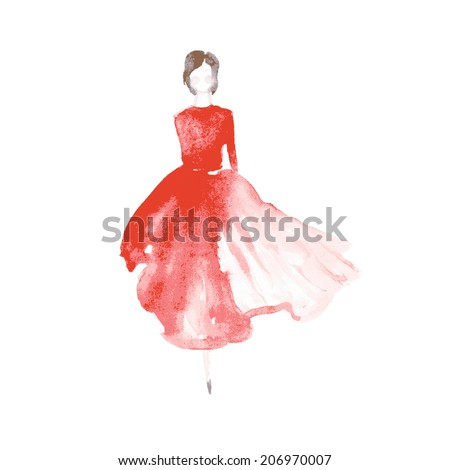 vector watercolor fashion