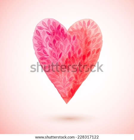 vector watercolor heart
