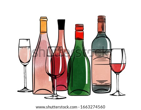 Wine Bottle Watercolor At Getdrawings Free Download