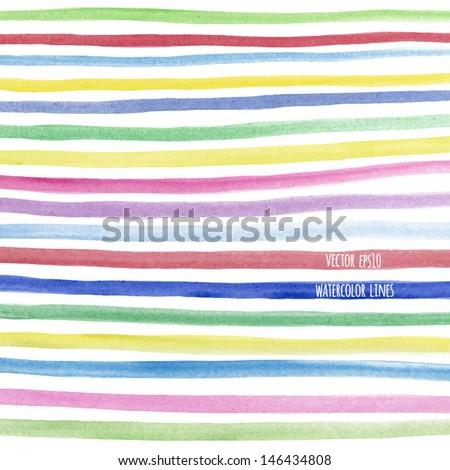 vector watercolor lines