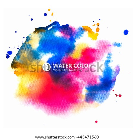 vector watercolor painting