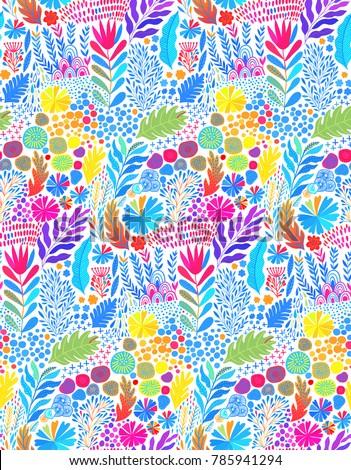 vector watercolor seamless