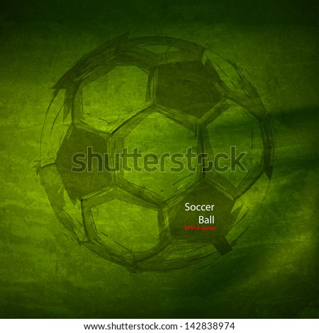 vector watercolor soccer ball