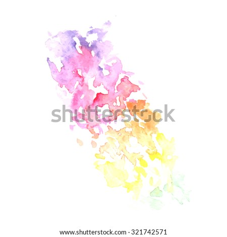 vector watercolor stroke with