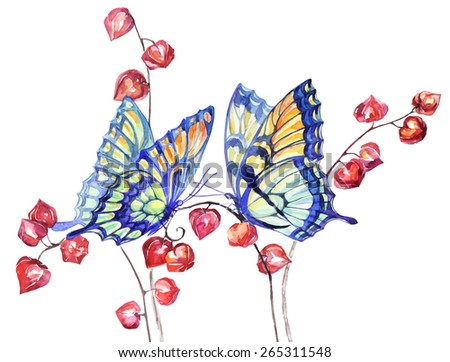 vector watercolor swallowtail