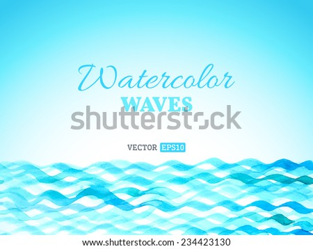 vector watercolor waves