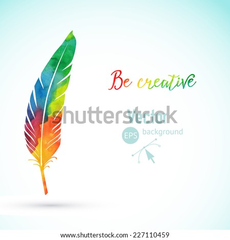 vector watercolor writing