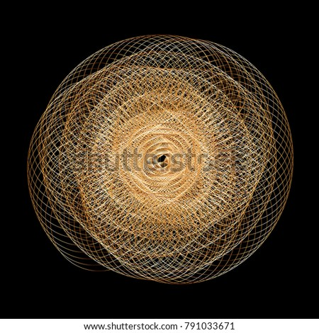 Vector Wavy Twirl Annular Rosette - Graphic Element - Generative Art