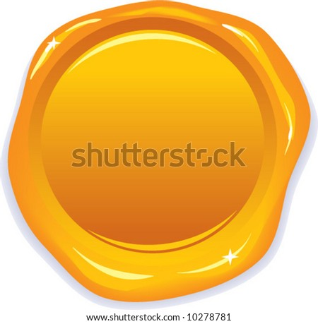 vector wax gold seal - add your own text!