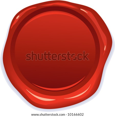 vector wax red seal