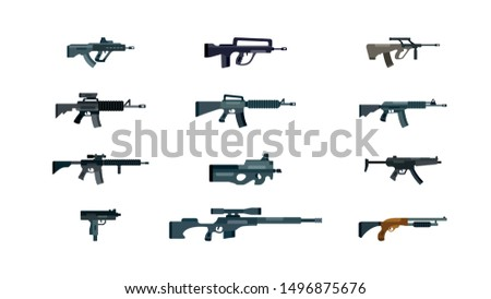 vector weapon pack  flat vector