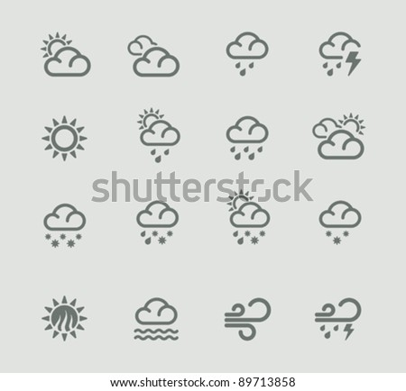 Vector weather forecast icon set. Part 1