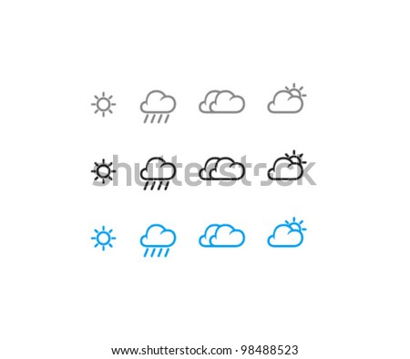 Vector Weather Icon Set