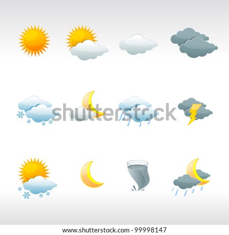 vector weather icons