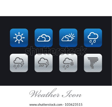 Vector Weather icons in three styles