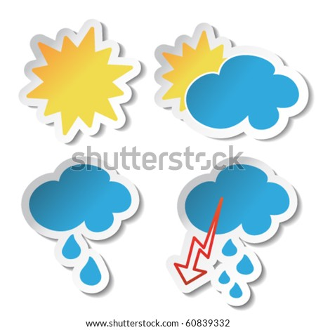 Vector weather stickers