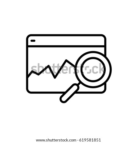 vector web analytics line icon