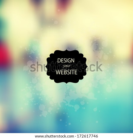 vector web and mobile interface