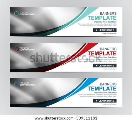 Vector Web banner or header Templates