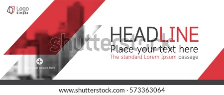 Vector web banner template, business theme, with space for your picture