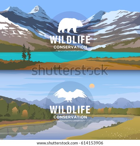 vector web banners on the