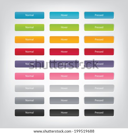 vector web buttons with