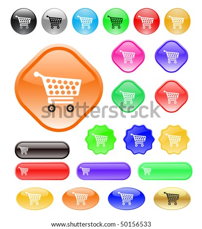 shopping cart icon. with shopping cart icon