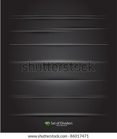 Vector web divider set - stock vector