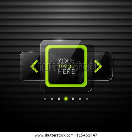 Vector web gallery design
