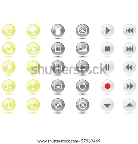 vector web icons and buttons