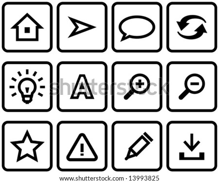Vector web icons set  You'll find more icons like this in my portfolio