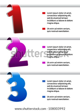 Vector web navigation - offer template, set 1
