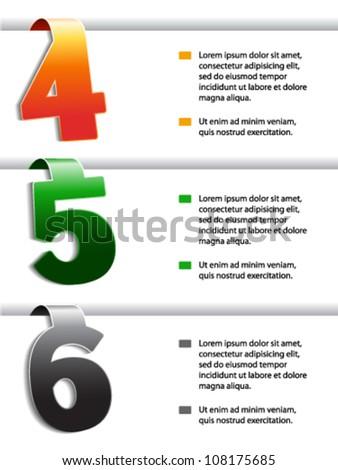 Vector web navigation - offer template, set 2
