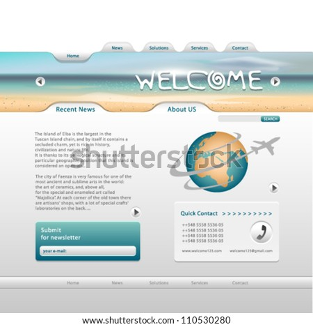 Vector Web Page layout. Graphic Design Editable For Your Design. - stock vector