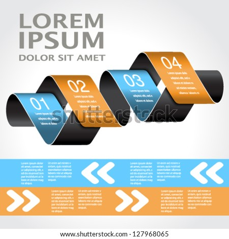 Vector web template -  4 steps, options, banners, website layout