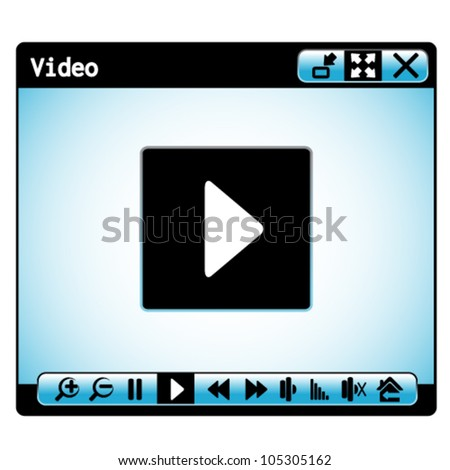 Vector web video player window
