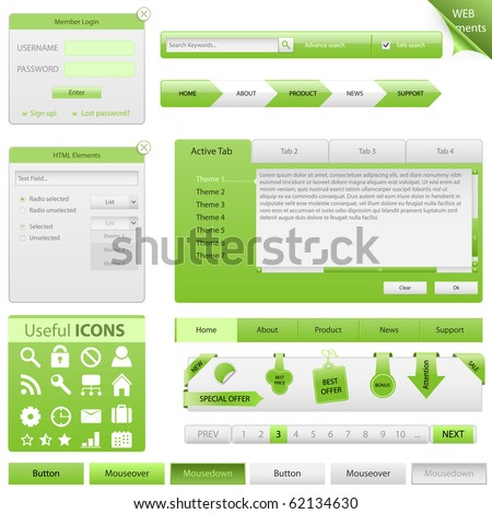 Vector Website Design Elements - stock vector