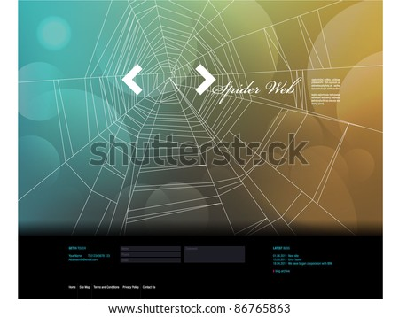 Vector Website Design Template 2 - stock vector