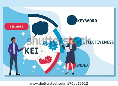 Vector website design template . KEI - Keyword Effectiveness Index. business concept. illustration for website banner, marketing materials, business presentation, online advertising. Stockfoto ©