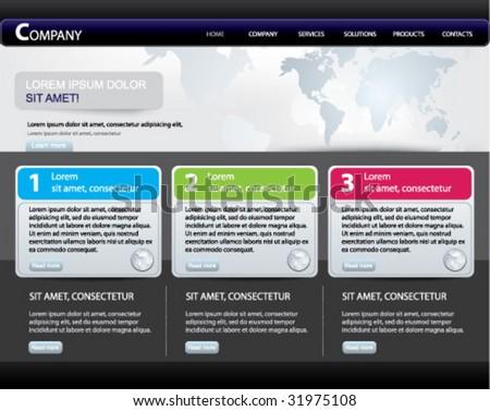 Vector website design template series