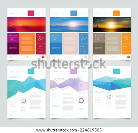 vector website design templates