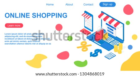 vector website template of web