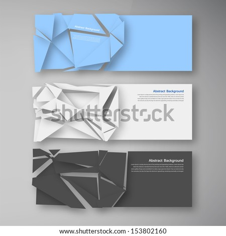 vector wed banners set color