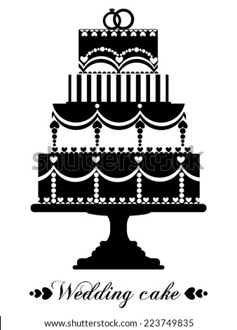wedding cake icon vector vector wedding cake for wedding invitations or 22892