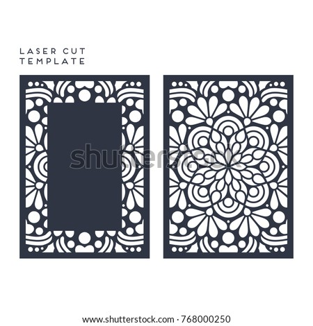 Vector wedding card laser cut template | EZ Canvas