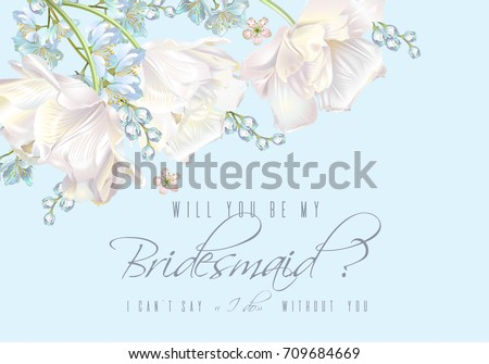 vector wedding invitation with