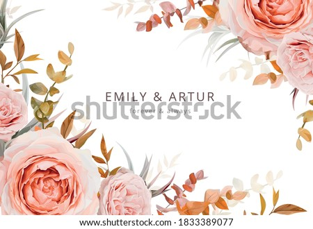 vector wedding invite card