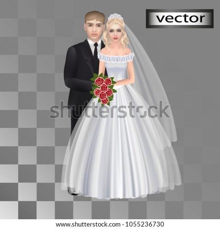 vector  wedding party  groom