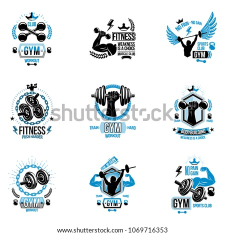 vector weightlifting theme