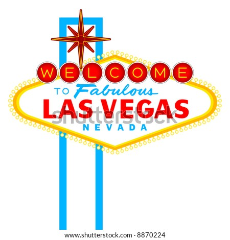 Vector Welcome to Fabulous Las Vegas Nevada Sign isolated on white
